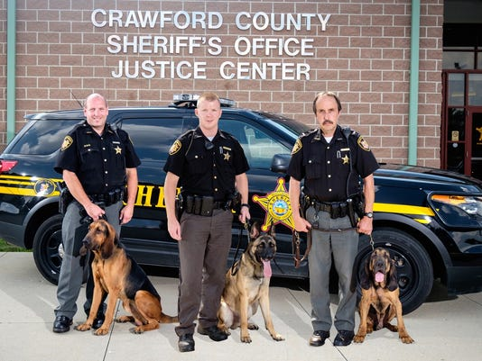 2- K-9 officers and handlers