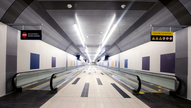 Travelers can walk – or ride a moving sidewalk – between the mainland and YTZ in under 10 minutes.