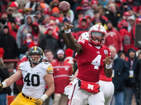 Nebraska quarterback Tommy Armstrong Jr. has a legitimate shot at reaching 10,000 career passing yards (he has 6,691). He also is 14 interceptions away from 50 in his career.