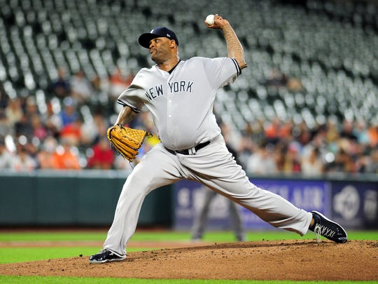 Yankees pitcher C.C. Sabathia allowed five runs on