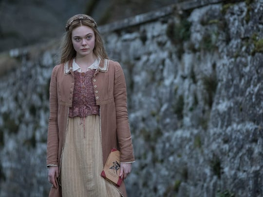 "Elle Fanning plays the young author ""Mary Shelley,"""