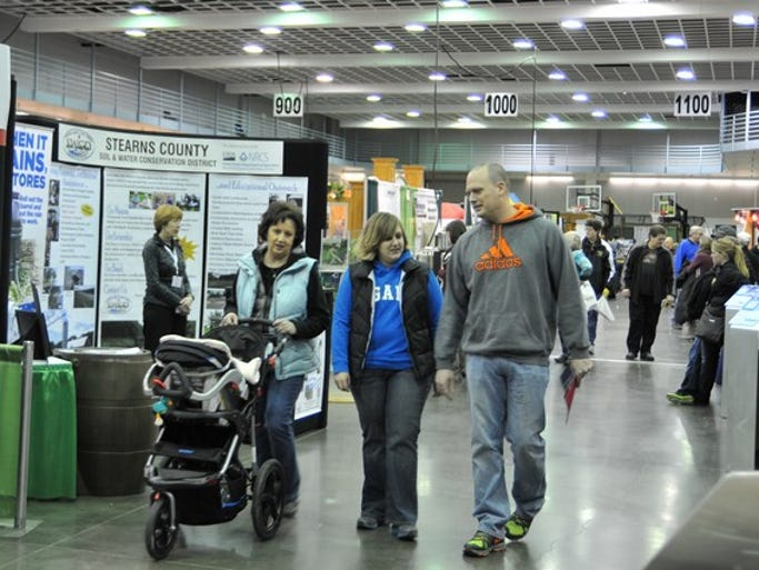 A large crowd attends the 2014 Central Minnesota Builders Association Home Show on Sunday, March 9, at the River's Edge Convention Center in downtown St. Cloud.