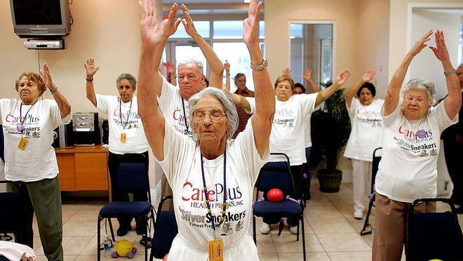 The latest Census shows Florida getting older, especially in The Villages. This photo is from Miami.