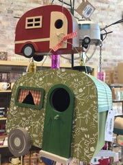 Nifty Things, which has locations in Elk Rapids and Traverse City in northern Michigan, sells vintage camper birdhouses.