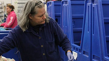 Jane Honea-Krajewski, who isdeaf and non-speaking, recently gained employment at Marion Goodwill with the help ofMarion County Board of Developmental Disabilitiesand Opportunities for Ohioans.