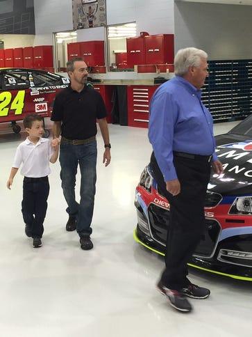 NASCAR team owner Rick Hendrick gives Rick Groesbeck