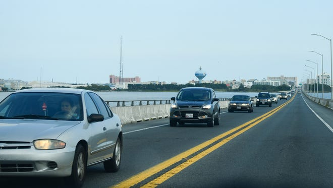Rt. 90 bridge, Ocean City, Md. Aug. 30, 2016
