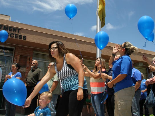 Balloons were released in memory of those killed during