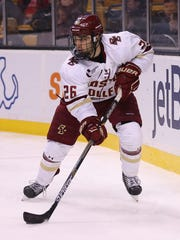 Austin Cangelosi had 21 goals and 14 assists this past season for Boston College.