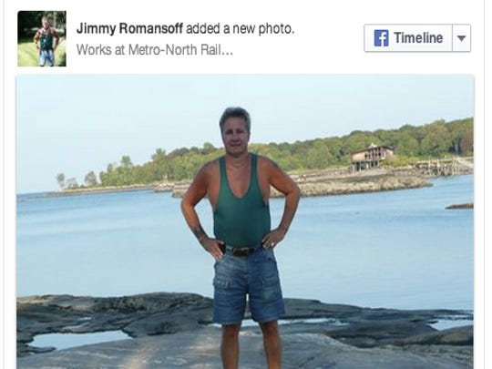 "James ""Jimmy"" Romansoff, as seen in a photo posted on his Facebook profile on April 11, 2010. Romansoff, 58, a Metro-North worker, was hit by a train and killed while restoring power to a track in Manhattan that was supposed to be off limits to traffic."