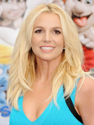 Singer Britney Spears arrives at the Los Angeles premiere of 'Smurfs 2' at Regency Village Theatre on July 28, 2013 in Westwood, Calif.