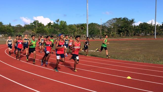 John F. Kennedy Islanders' Takumi Simon claimed first place in the boys' 3,000-meter race at the IIAAG Track and Field meet on April 29. Simon finished in 10:21.00