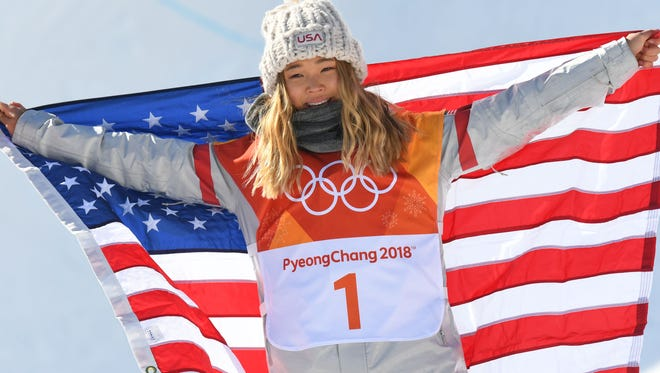 Gold medalist Chloe Kim.