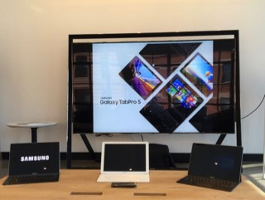 Samsung's Galaxy TabPro S models come in black or white.