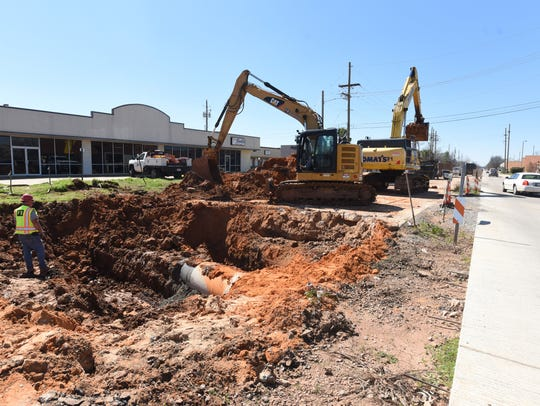 Construction on Shed Road in Bossier City.