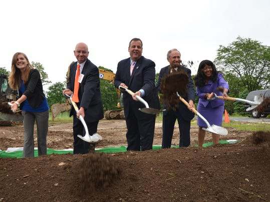 For the 3rd time in a week, Gov. Chris Christie attends a campus groundbreaking project today. This is a picture from Tuesday's event at William Paterson University. (Governor's Office photo)