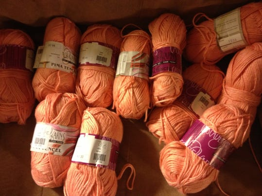 Yep, you're right. Not all the same dye lot. I'm going to be knitting a lot of yarn by alternating rows between 2 skeins in Mom's sweater.