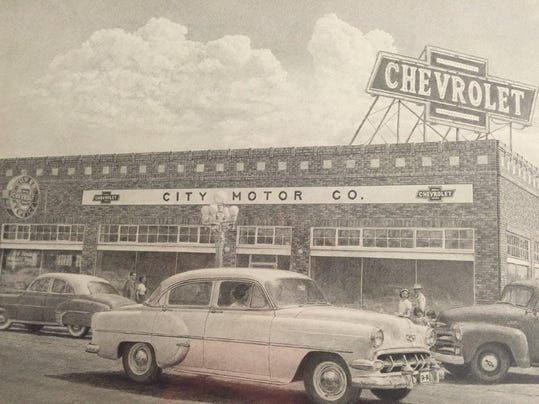 History museum honors city motors rotary club ugf pugh for City motor company great falls