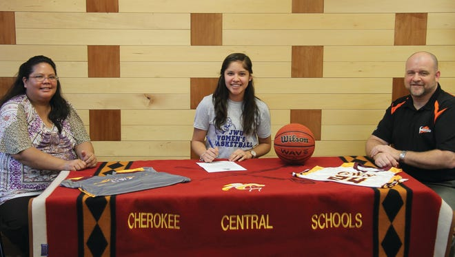 Cherokee senior Tiffani Riggen has signed to play college basketball for Johnson & Wales.