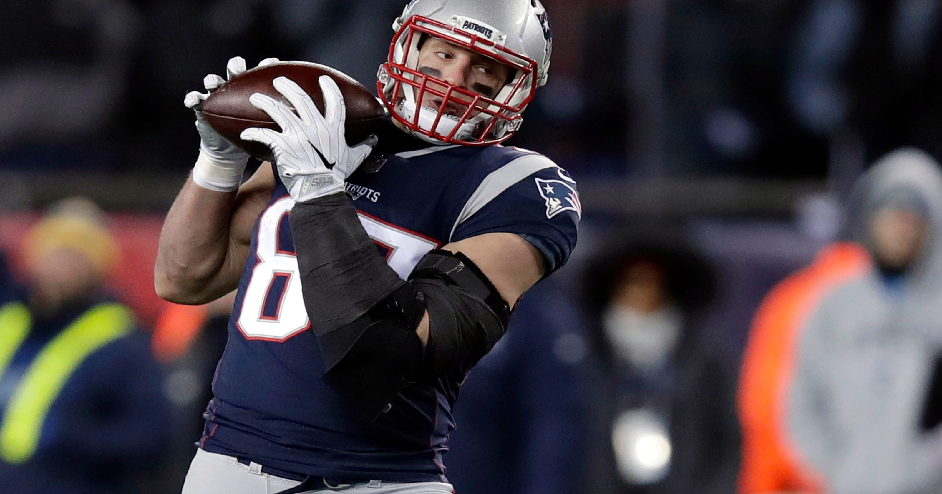 b10c57919 Patriots  Gronkowski expects to play in Super Bowl