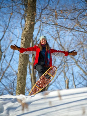 Snow shoes? They work! So do boots. The point of #MiShoeYear is to get outside.