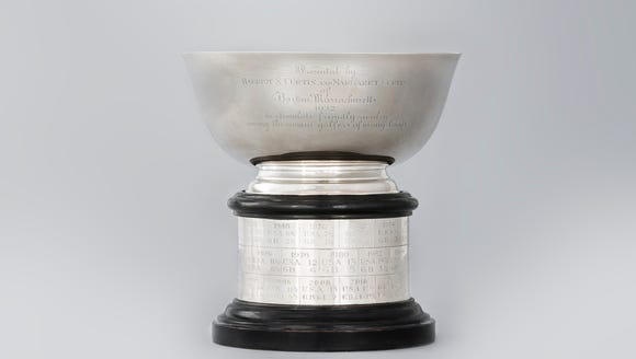 The Curtis Cup trophy as seen at United States Golf