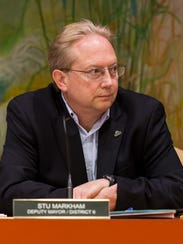 Newark City Council member Stu Markham ran unopposed for District 6, in his seventh term on the council.