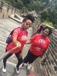 Karmel Washington and mom, Phyllis, explore China.