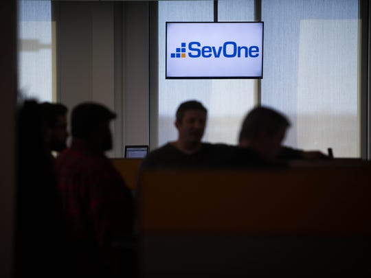 SevOne employees are seen at the company's Innovation and Technology Center at the University of Delaware Star Campus.