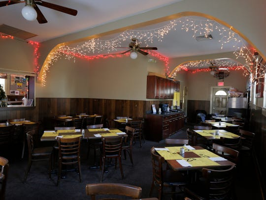 Interior of the dining room of Zagursky's Bar & Grill,