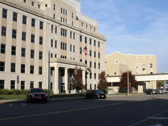 The City of Binghamton courthouse and downtown area.