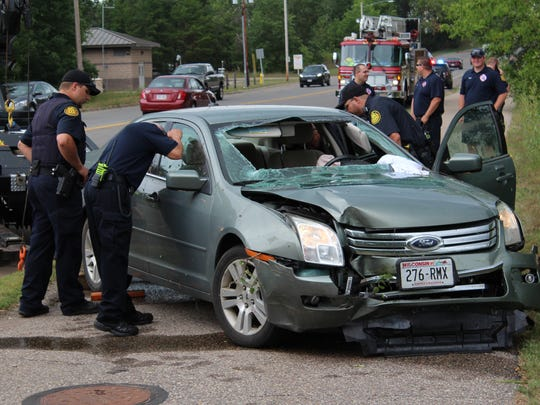 A car was pulled from the water near Patch Street in Stevens Point on Wednesday afternoon.