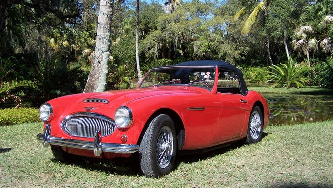 This original Austin Healey 3000, formerly owned by Fox Movietone News and in storage for 46 years, will be on display at the show along with hundreds of other award-winning antique cars.