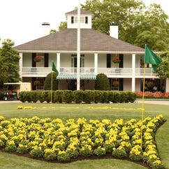 The clubhouse at 79th Masters Golf Tournament at Augusta National Golf Club on April 12, 2015, in Augusta, Georgia.  AFP PHOTO/TIMOTHY A. CLARYTIMOTHY A. CLARY/AFP/Getty Images ORG XMIT: 527952745 ORIG FILE ID: 539644508