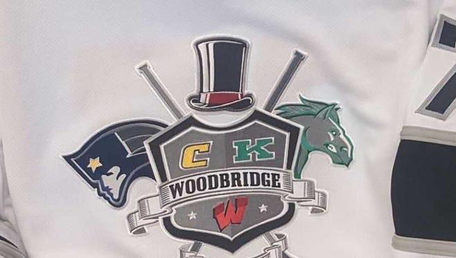 Jersey logo for the Woodbridge, Colonia, J.F. Kennedy co-op ice hockey program