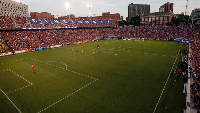 30,160 fans attend the Open Cup match between FC Cincinnati and Culumbus Crew Tuesday, June 13, 2017 at Nippert Stadium.