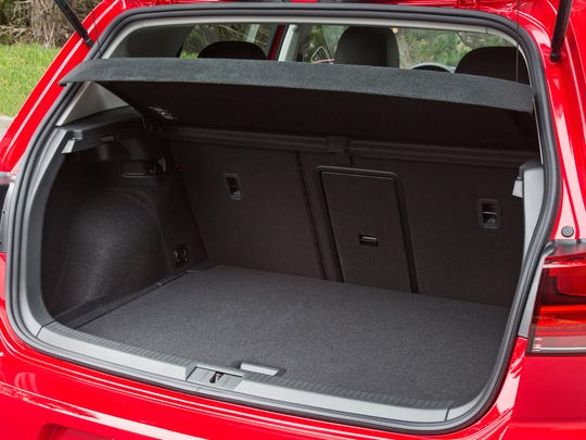 The 2017 Volkswagen Golf has more than 16 cubic feet