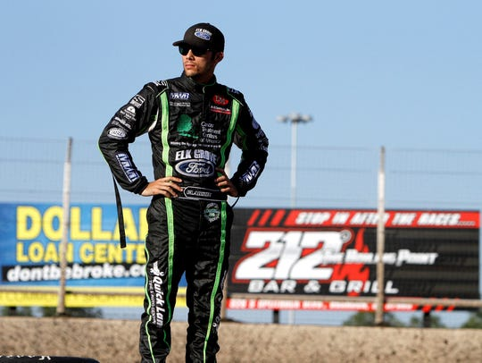 Bryan Clauson won an ASCS National event at Badlands