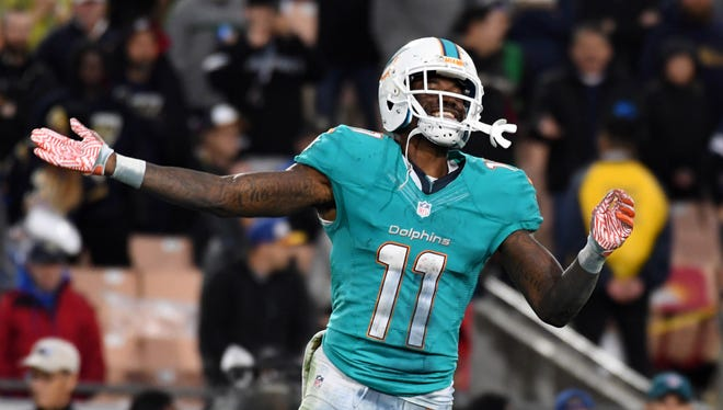 Dolphins wide receiver DeVante Parker caught the game-winning TD pass last week against the Rams. It was only his second touchdown of the season.