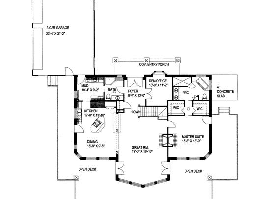 Luxe on both levels, the layout prioritizes relaxing