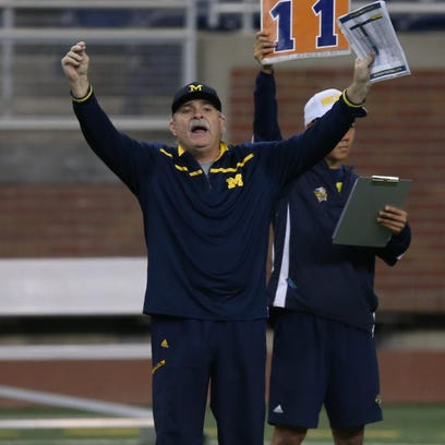 Michigan defensive coordinator Don Brown.