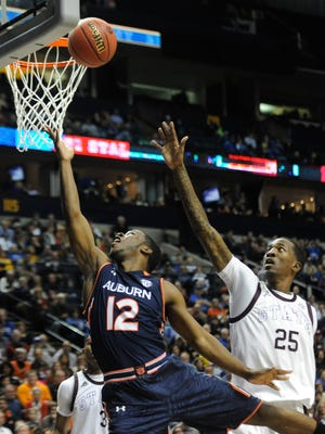 Auburn Tigers guard K.C. Ross-Miller tied a season-high with 21 points against Mississippi State.
