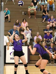 Milan's Catherine Hughes played libero last year for the Lady Bulldogs.