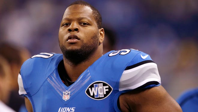 Detroit Lions defensive tackle Ndamukong Suh.