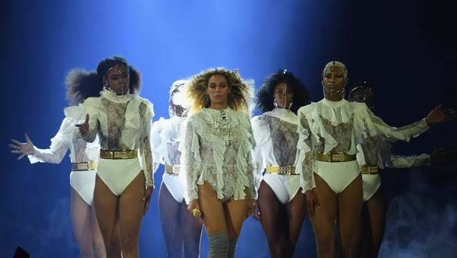 Beyonce performs onstage during 'The Formation World Tour.'