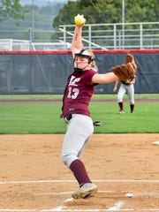 Courtney Coy pitches for Shippensburg during a 3-2 softball win against James Buchanan on Thursday. Coy threw a six-hitter.