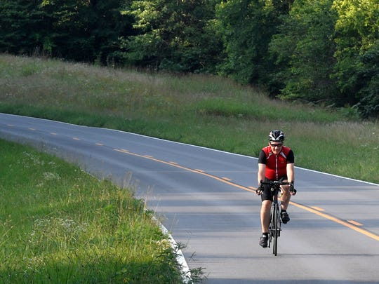 Franklin cyclist Michael Montgomery survived being