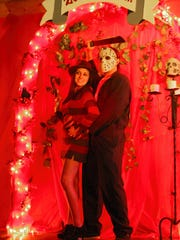 Brittany and Kris Painschab, dress as Freddy Krueger