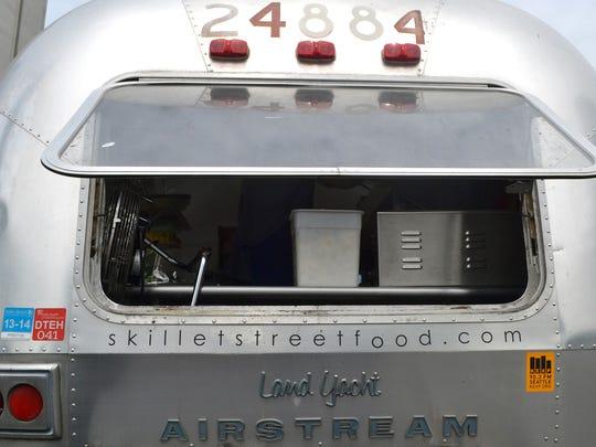 Skillet's Airestream Land Yacht.