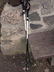 Trekking poles can help ease strain on knees when backpacking.
